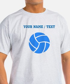 Custom Blue Volleyball T-Shirt