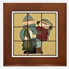 Tic-Tac-Toe 2 Framed Tile