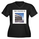 colisseum rome italy gifts Women's Plus Size V-Nec