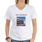 colisseum rome italy gifts Women's V-Neck T-Shirt
