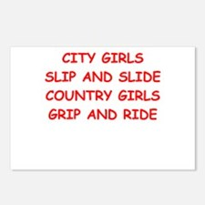country girls Postcards (Package of 8)