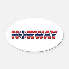 Norway 001 Oval Car Magnet