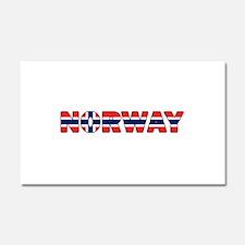 Norway 001 Car Magnet 20 x 12