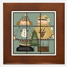 Tic-Tac-Toe 3 Framed Tile