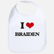 I Love Braiden Bib