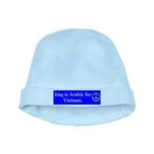 iraq_is_arabic_blue_on_white.png baby hat