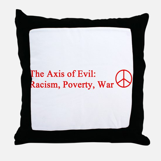 axis_evil_red.png Throw Pillow