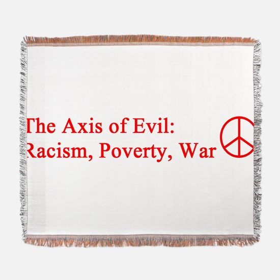 axis_evil_red.png Woven Blanket