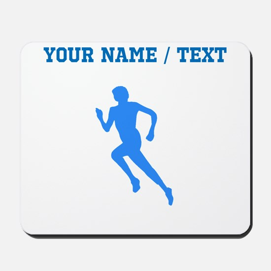 Custom Blue Runner Silhouette Mousepad