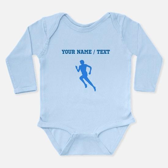 Custom Blue Runner Silhouette Body Suit