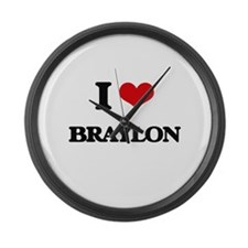 I Love Braylon Large Wall Clock