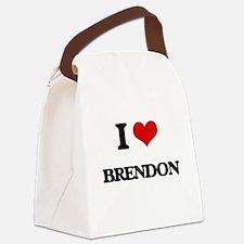 I Love Brendon Canvas Lunch Bag