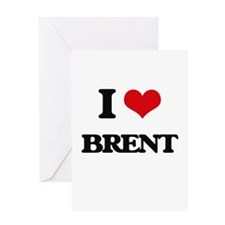I Love Brent Greeting Cards