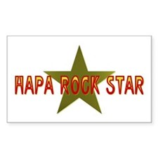 Hapa Rock Star Rectangle Decal