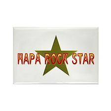 Hapa Rock Star Rectangle Magnet