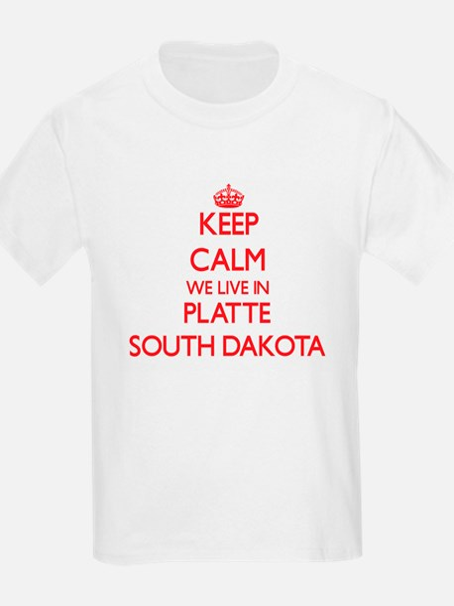 Keep calm we live in Platte South Dakota T-Shirt