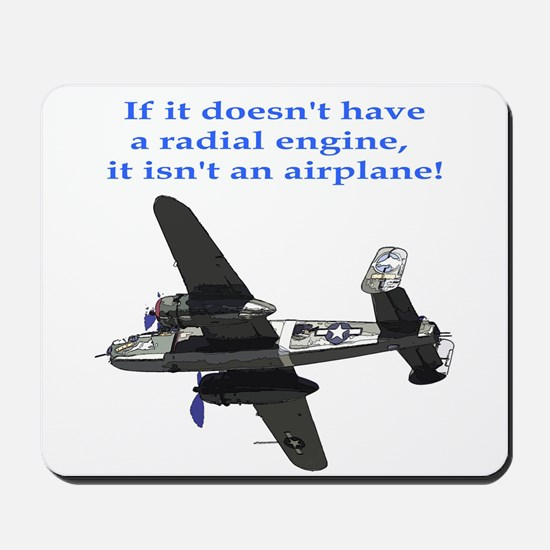Radial B-25 Mousepad