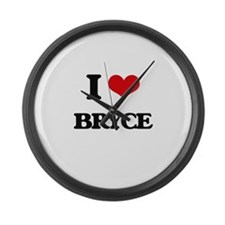 I Love Bryce Large Wall Clock
