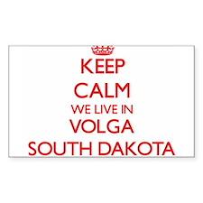 Keep calm we live in Volga South Dakota Decal