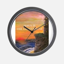 Jesus is the Lighthouse Wall Clock
