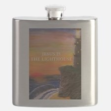 Jesus is the Lighthouse Flask