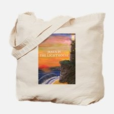 Jesus is the Lighthouse Tote Bag