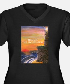 Jesus is the Lighthouse Plus Size T-Shirt