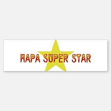 Hapa Super Star Bumper Bumper Bumper Sticker