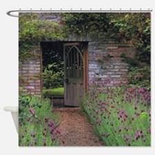 Thru the garden Shower Curtain