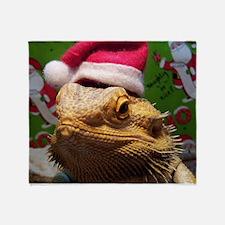 Beardie Santa Hat Throw Blanket