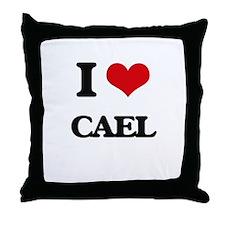 I Love Cael Throw Pillow