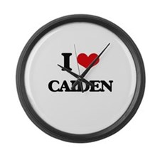 I Love Caiden Large Wall Clock