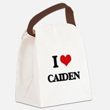 I Love Caiden Canvas Lunch Bag