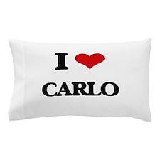 I Love Carlo Pillow Case