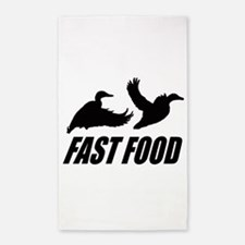 Fast food waterfowl Area Rug