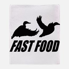 Fast food waterfowl Throw Blanket