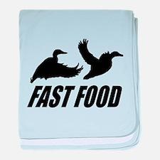 Fast food waterfowl baby blanket