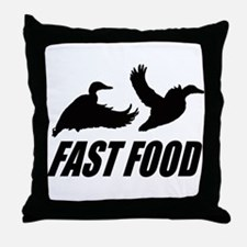 Fast food waterfowl Throw Pillow