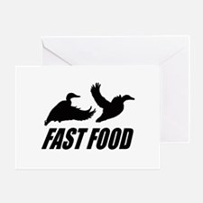 Fast food waterfowl Greeting Card