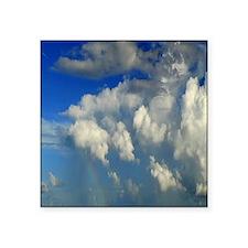"""Unique Cumulus clouds Square Sticker 3"""" x 3"""""""