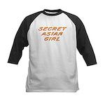 Secret Asian Girl Kids Baseball Jersey