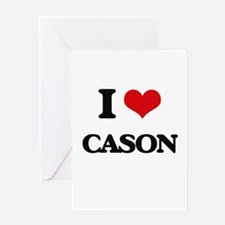 I Love Cason Greeting Cards