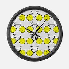 Happy Bikes Large Wall Clock