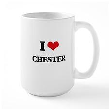 I Love Chester Mugs