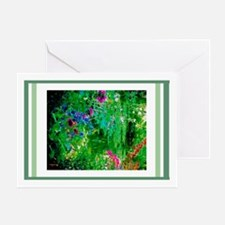 Monets Garden Pond Greeting Cards