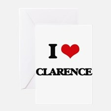I Love Clarence Greeting Cards