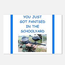 paintball joke Postcards (Package of 8)
