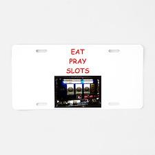 slots joke Aluminum License Plate