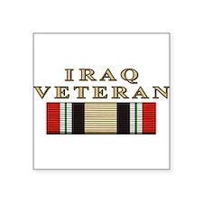 """Cute Iraq war veteran Square Sticker 3"""" x 3"""""""