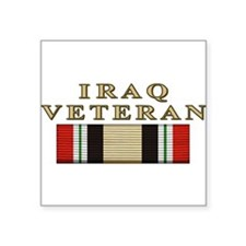 "Cute Veteran Square Sticker 3"" x 3"""